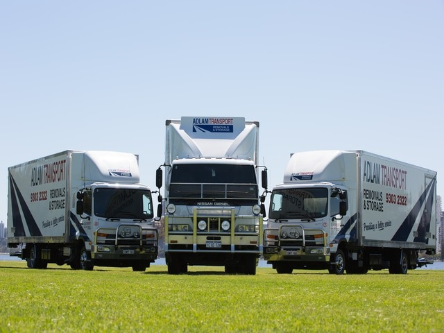 Adlam's interstate removals fleet