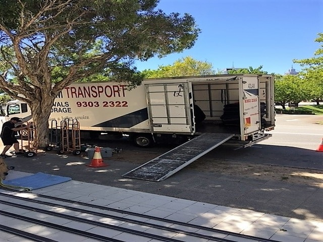 Recent furniture removals in Perth