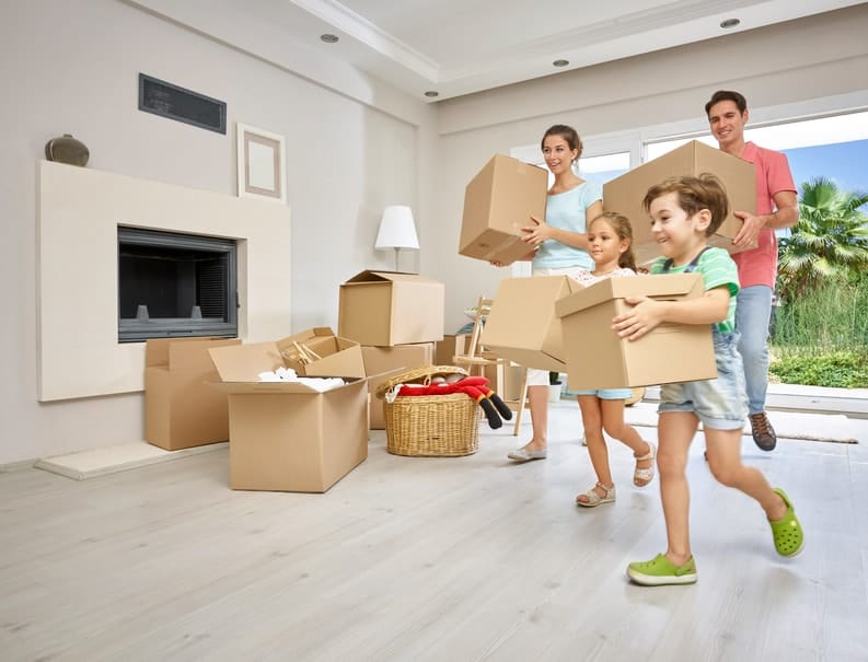 A family trying to quickly pack a Perth home.