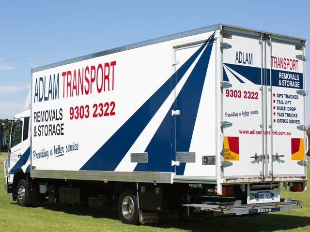Part of Adlam's commercial removals fleet