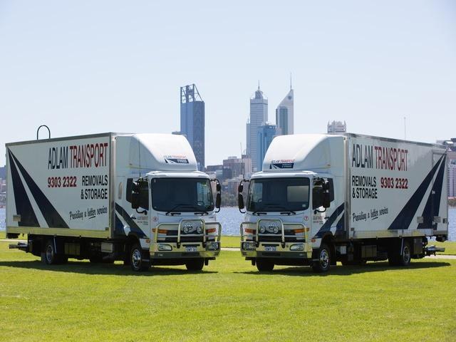 Adlam's award winning office relocations fleet